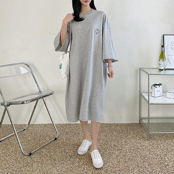104 찰리라운드넥롱원피스 DNOE134 도매 배송대행 미시옷 임부복