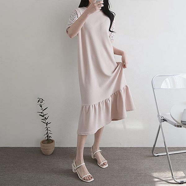104 요거트플레어롱원피스 DILE135 도매 배송대행 미시옷 임부복
