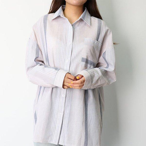 104 빅포켓배색오버핏셔츠 DHGE141 도매 배송대행 미시옷 임부복