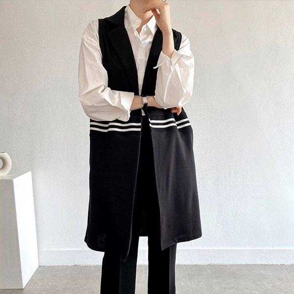 104 두줄포인트오버베스트 DBSE144 도매 배송대행 미시옷 임부복