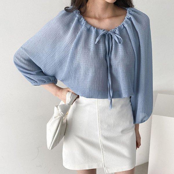 104 레인퍼프소매블라우스 DIRE146 도매 배송대행 미시옷 임부복
