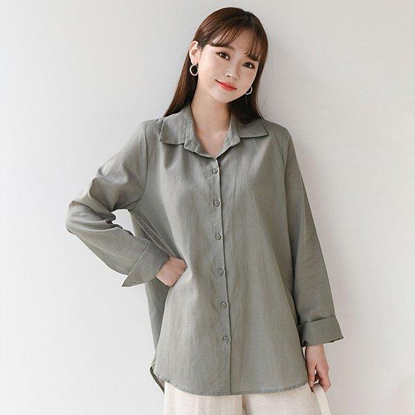104 베이직오버핏린넨셔츠 DBNE149 도매 배송대행 미시옷 임부복