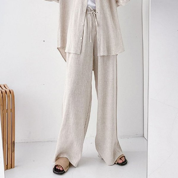104 소프트와이드린넨팬츠 DEZE156 도매 배송대행 미시옷 임부복