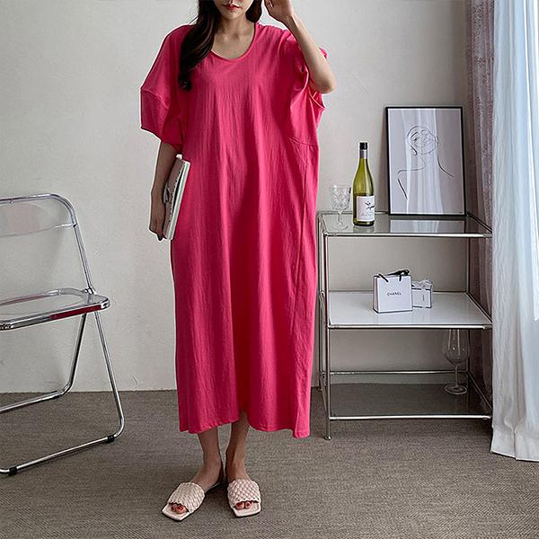 105 요거트퍼프오버원피스 DPOE268 도매 배송대행 미시옷 임부복