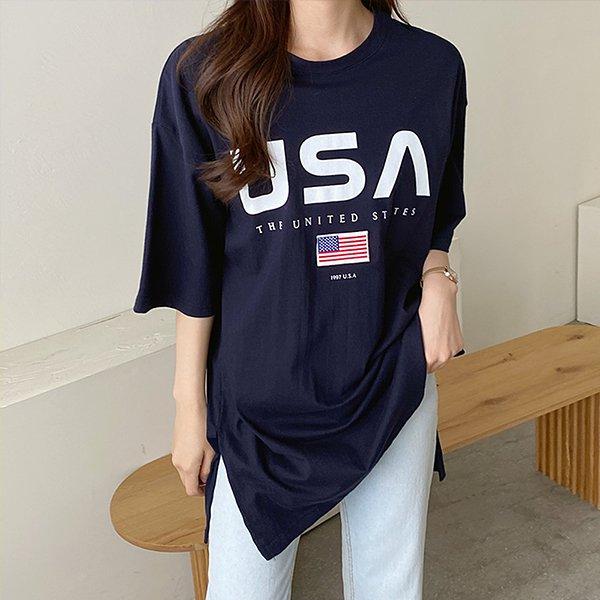 106 스테이트라운드넥반팔 DPOE290 도매 배송대행 미시옷 임부복