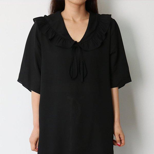 106 썸머쉬폰프릴블라우스 DHGE293 도매 배송대행 미시옷 임부복