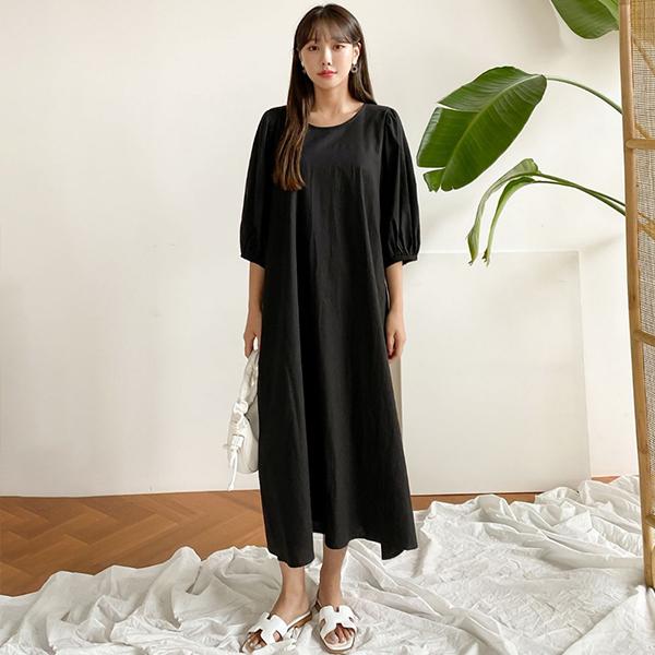106 무지스트링리본원피스 DIRE295 도매 배송대행 미시옷 임부복