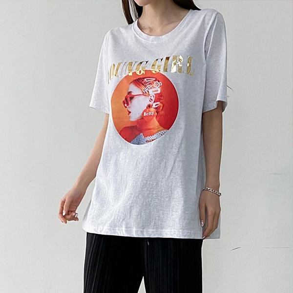 106 골드헤어핀오버핏반팔 DBSE303 도매 배송대행 미시옷 임부복