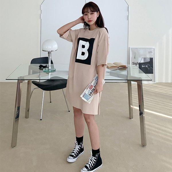 106 B스퀘어면미디원피스 DSFE307 도매 배송대행 미시옷 임부복