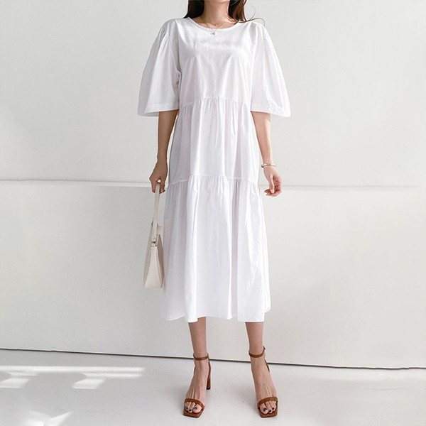 106 무지백오픈셔링원피스 DSFE309 도매 배송대행 미시옷 임부복