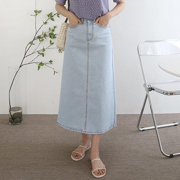 106 잇츠밴딩롱데님스커트 DPNE325 도매 배송대행 미시옷 임부복