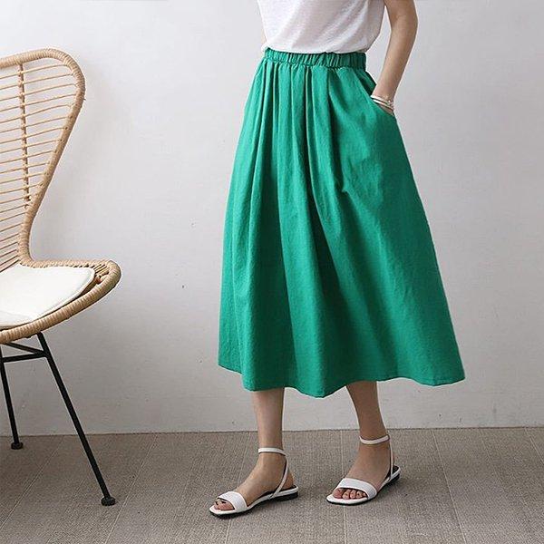106 베이직마밴딩롱스커트 DEME335 도매 배송대행 미시옷 임부복