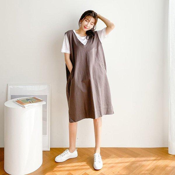 106 핫썸머브이넥마원피스 DBNE356 도매 배송대행 미시옷 임부복
