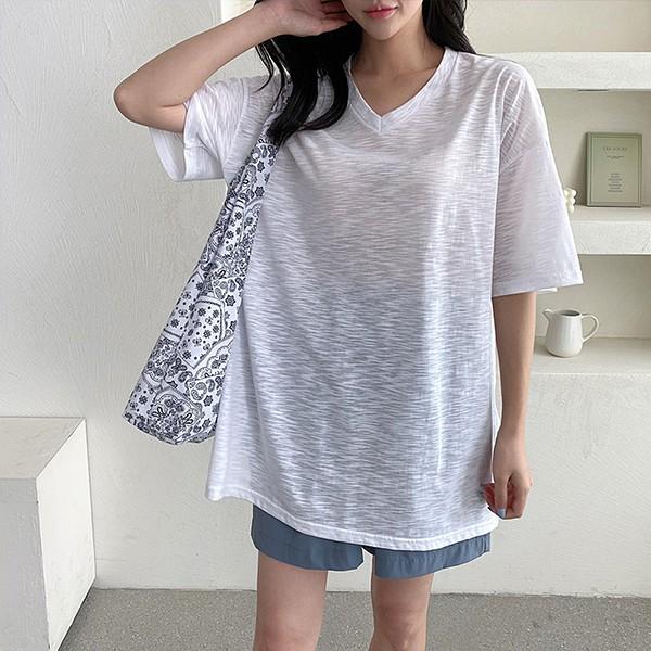 106 에브리박시핏슬럽반팔 DNOE363 도매 배송대행 미시옷 임부복