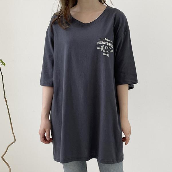 107 베이커리라운드넥반팔 DZYE450 도매 배송대행 미시옷 임부복