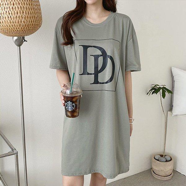 107 더블디라운드넥원피스 DILE460 도매 배송대행 미시옷 임부복