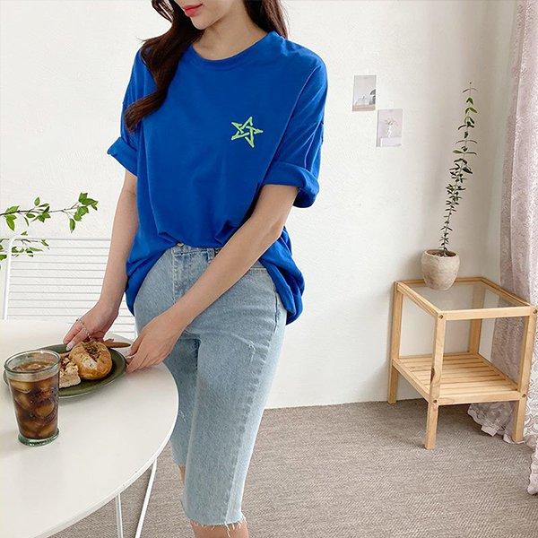 107 스타프린팅오버핏반팔 DILE462 도매 배송대행 미시옷 임부복