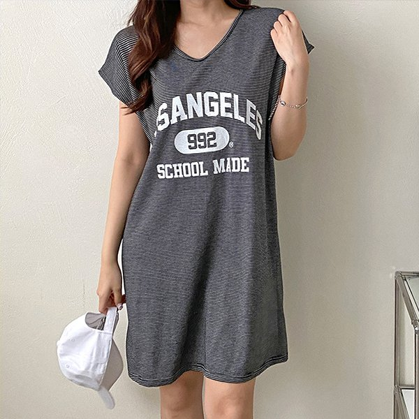 107 992스트라이프원피스 DNOE464 도매 배송대행 미시옷 임부복