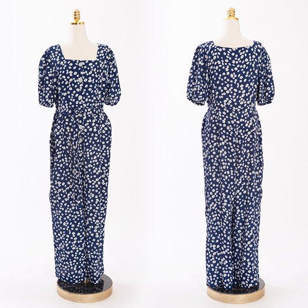 빅사이즈 107 패턴스퀘어넥점프슈트 DCME466 도매 배송대행 미시옷 임부복