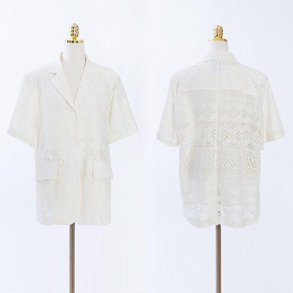 107 로이오버핏레이스자켓 DCME479 도매 배송대행 미시옷 임부복