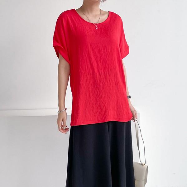 107 레이셀오버핏셔링반팔 DNBE482 도매 배송대행 미시옷 임부복