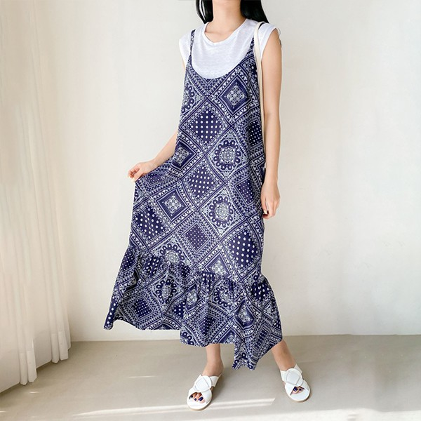 107 페이즐리끈나시원피스 DBNE490 도매 배송대행 미시옷 임부복