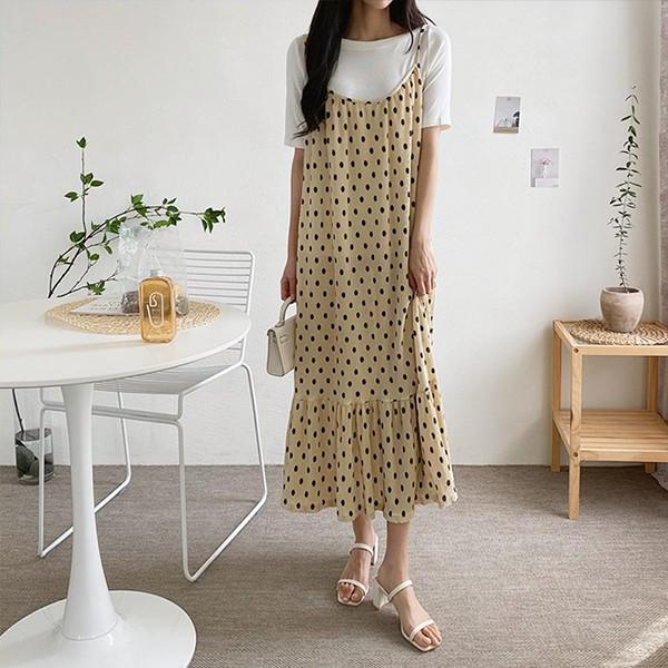 107 셔링롱뷔스티에원피스 DGRE496 도매 배송대행 미시옷 임부복