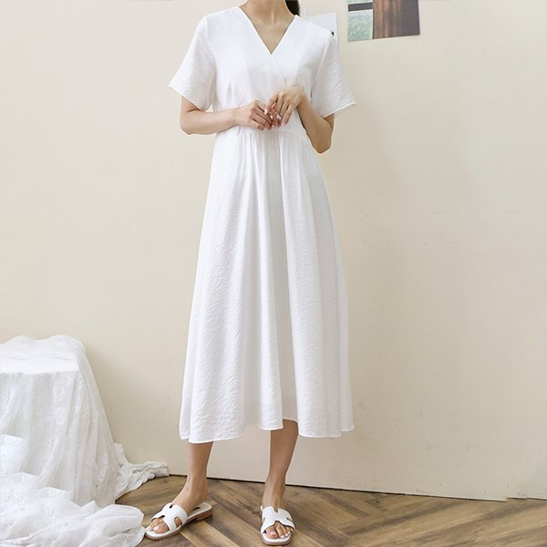 107 기본컬러밴딩롱원피스 DWBE498 도매 배송대행 미시옷 임부복