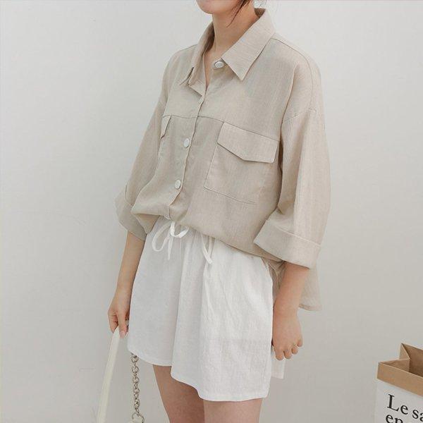 107 가오리핏린넨블라우스 DWBE501 도매 배송대행 미시옷 임부복