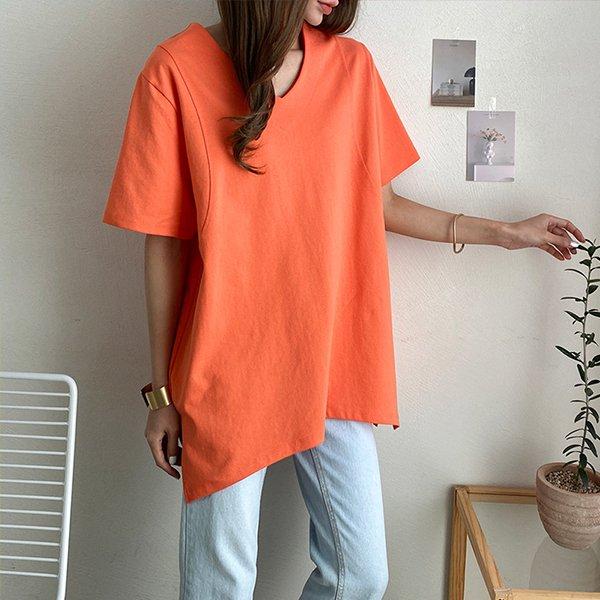 107 브이넥데일리롱반팔티 DBQE503 도매 배송대행 미시옷 임부복