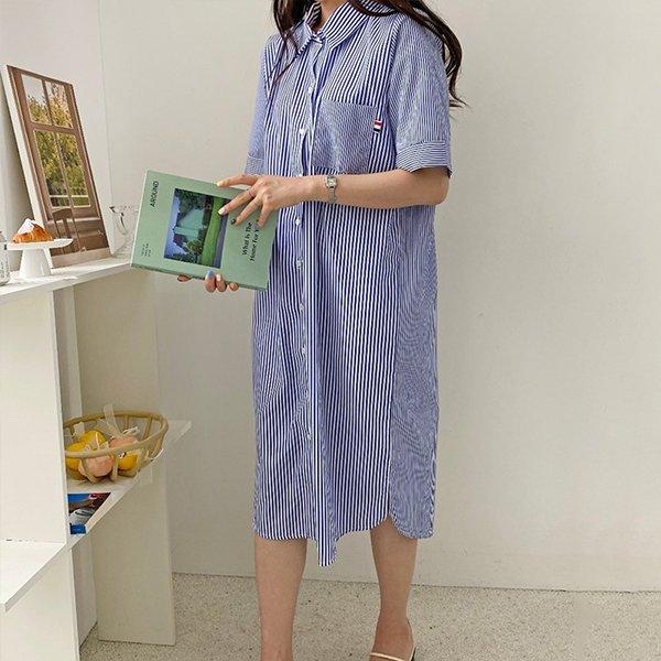 107 밑트임썸머셔츠원피스 DBSE515 도매 배송대행 미시옷 임부복