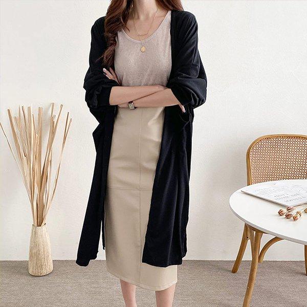 108 베이직퍼프소매가디건 DNOE619 도매 배송대행 미시옷 임부복
