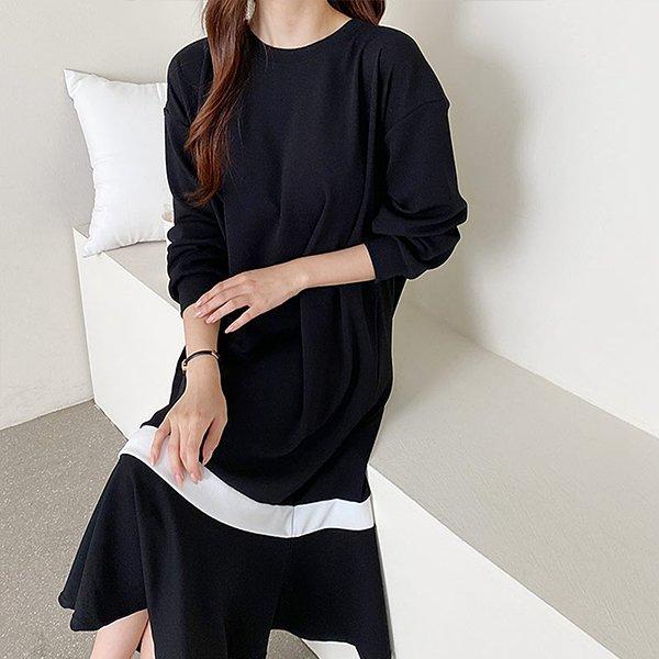 109 스판머메이드롱원피스 DNOE678 도매 배송대행 미시옷 임부복