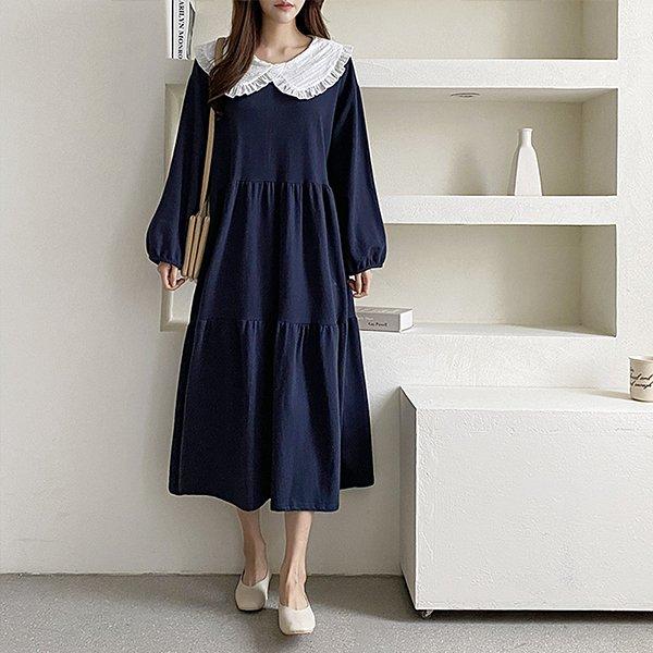 109 자가드프릴코튼원피스 DGRE685 도매 배송대행 미시옷 임부복