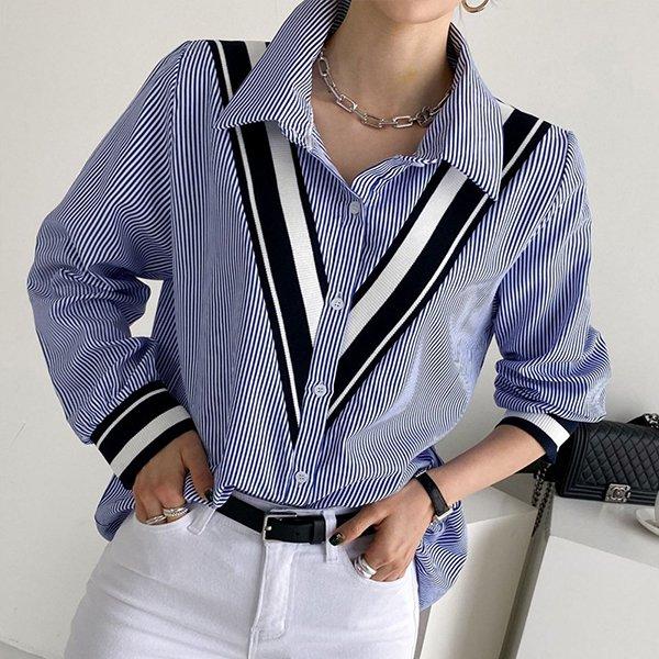 109 베이직유니크배색남방 DBSE689 도매 배송대행 미시옷 임부복