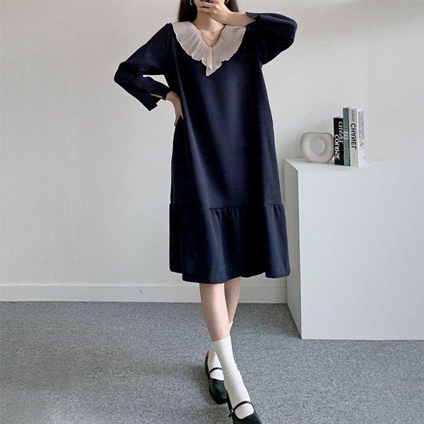 109 페미닌일자셔링원피스 DDBE696 도매 배송대행 미시옷 임부복