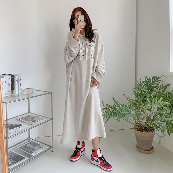 109 포켓나염롱후디원피스 DSFE714 도매 배송대행 미시옷 임부복
