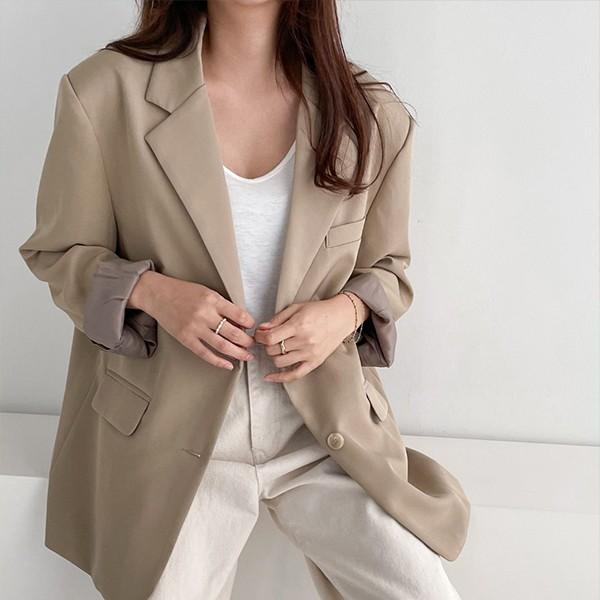 109 데일리오버핏버튼자켓 DSFE715 도매 배송대행 미시옷 임부복