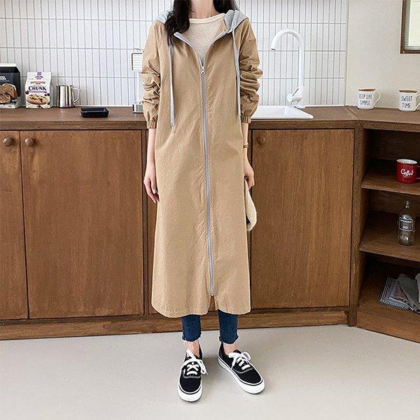 109 심플코튼후드야상점퍼 DEME727 도매 배송대행 미시옷 임부복