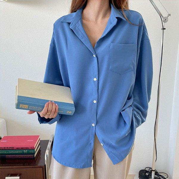 109 여리버튼오버포켓셔츠 DEZE729 도매 배송대행 미시옷 임부복