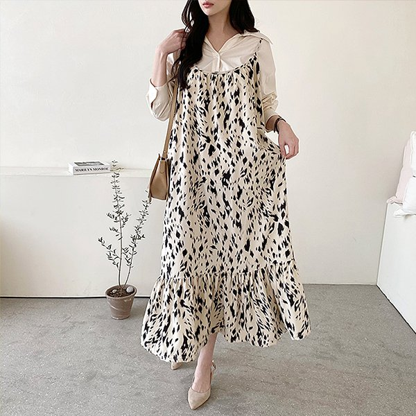 109 셔링뷔스티에롱원피스 DGRE741 도매 배송대행 미시옷 임부복