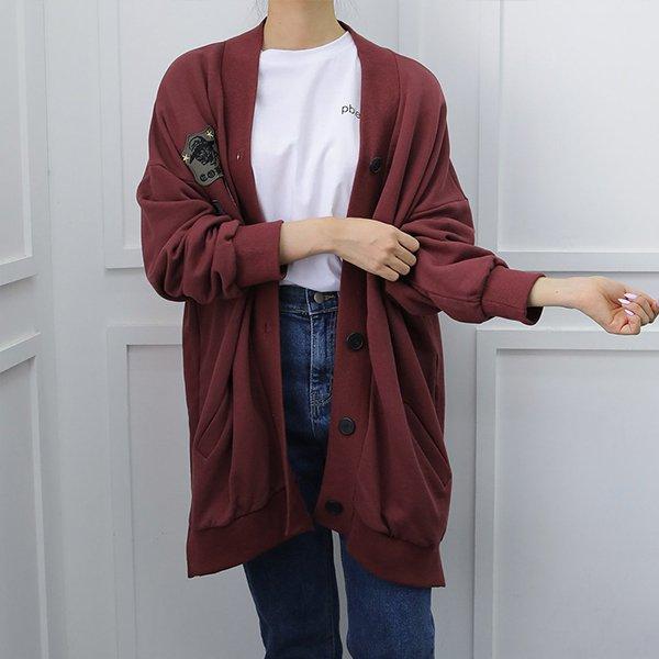 109 코튼트임패치롱가디건 DWBE772 도매 배송대행 미시옷 임부복
