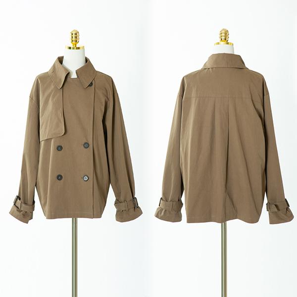 109 심플버튼숏바바리자켓 DCME780 도매 배송대행 미시옷 임부복