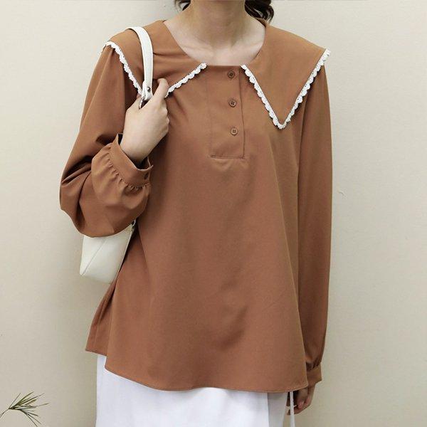 109 펀칭세라카라블라우스 DWBE786 도매 배송대행 미시옷 임부복