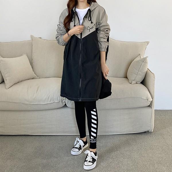 110 배색나염미디바람막이 DPOE800 도매 배송대행 미시옷 임부복