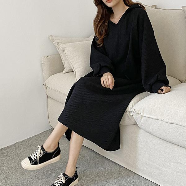 110 러블리와플짜임원피스 DGRE806 도매 배송대행 미시옷 임부복