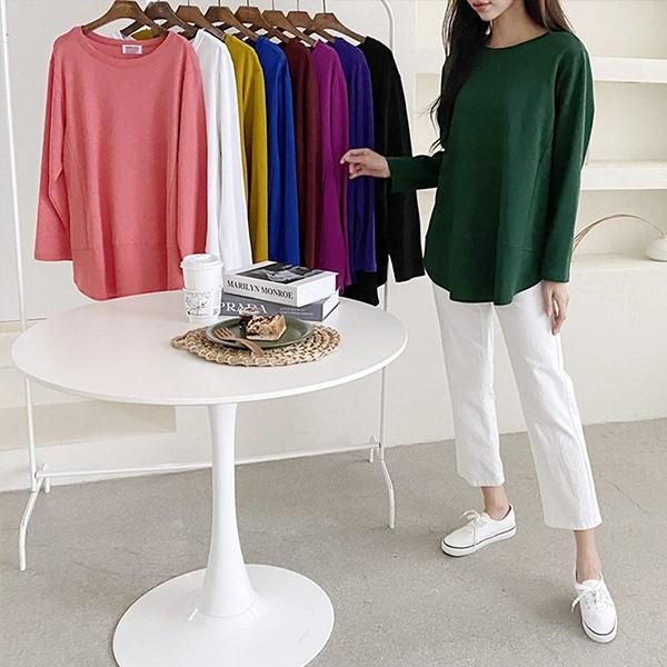 110 베이직일자라운드롱티 DBQE813 도매 배송대행 미시옷 임부복
