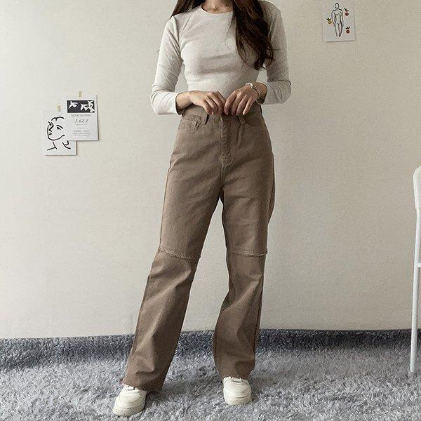 110 데일리절개와이드팬츠 DCAE821 도매 배송대행 미시옷 임부복