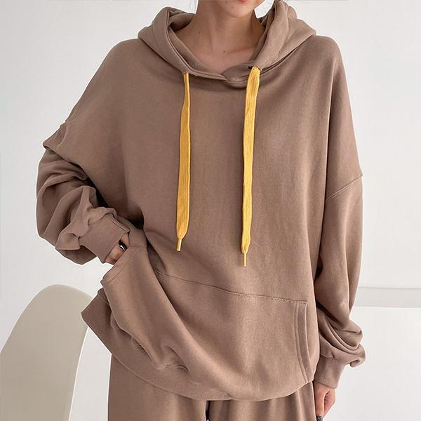 110 데일리끈배색후드티 DTSE829 도매 배송대행 미시옷 임부복