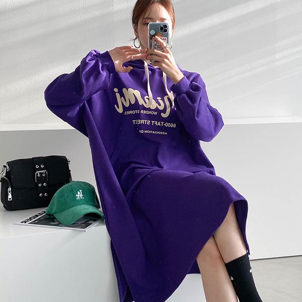110 코튼트임롱후드원피스 DSUE834 도매 배송대행 미시옷 임부복